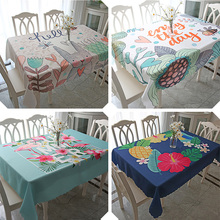 Tablecloth waterproof, anti scald, oil free, wash cloth, cotton leprosy, small, fresh, rectangular tea table, Nordic red ins