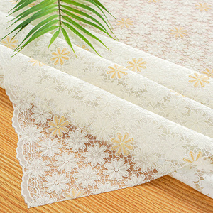 订制pvc田园防水塑料餐桌布