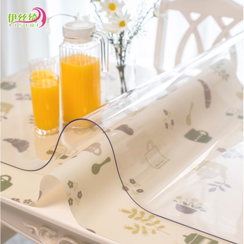 Мягкий стекло сгущаться PVC скатерть геометрическом горячей прозрачный обеденный стол подушка пластик скатерть колодки кристалл доска кофейный столик подушка