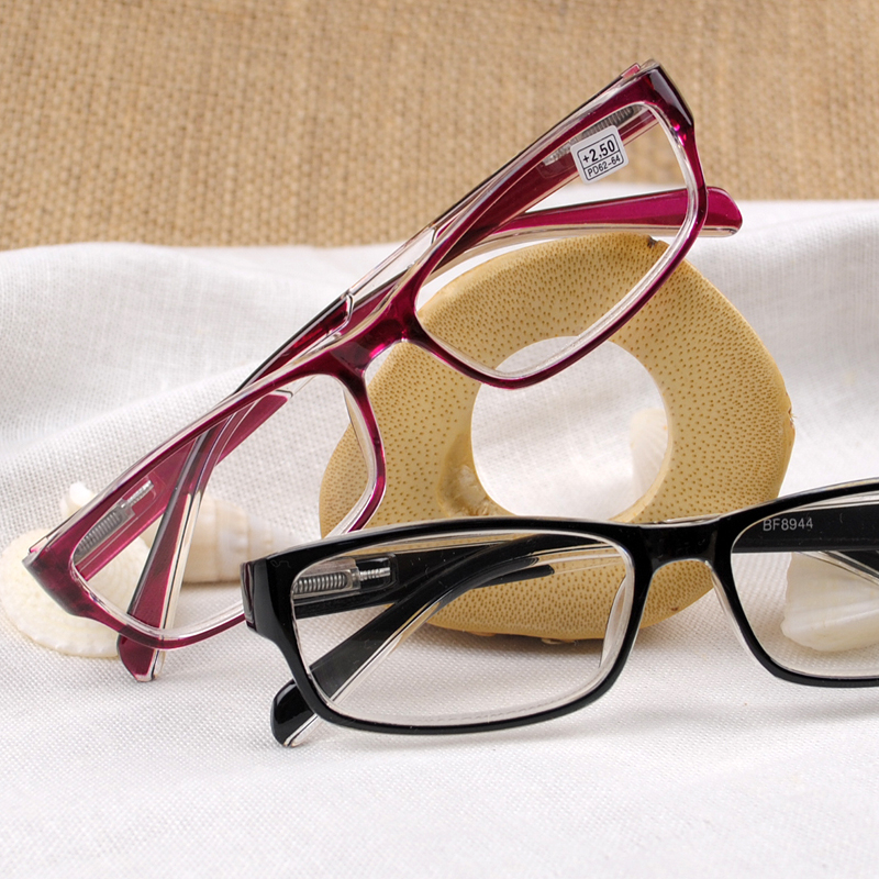 Reading glasses mens and womens presbyopia glasses resin comfortable fashion old light simple flower glasses ultra light trend portable