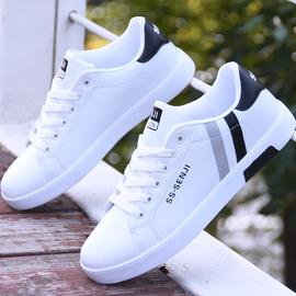 小白鞋男秋季韩版潮流运动休闲鞋子男士百搭白色学生平底板鞋
