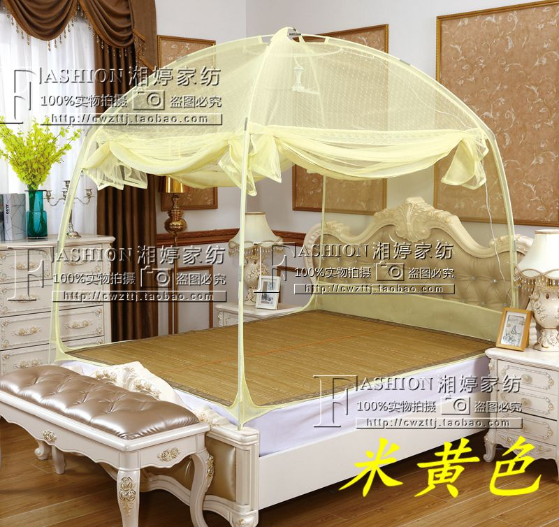 New 1.6m wide bed mosquito net 160, 1.8m high, 0.9m thick and 1.21.1m three door yurt