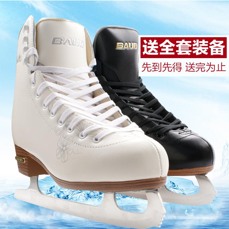 Сто мораль уолл при этом натуральная кожа настроение ледовые коньки обувной фантазия мужской и женщины ученый белый коньки ребенок скольжение коньки цветчный нож