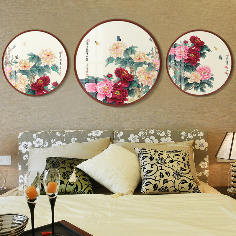 【十年老店】花开富贵圆形客厅装饰画限9999张券