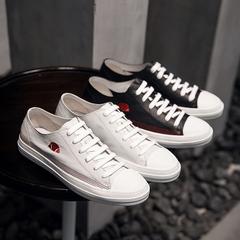 夏季新款真皮透气潮流韩版系带刺绣板鞋休闲鞋 312B-3 Z89 P175