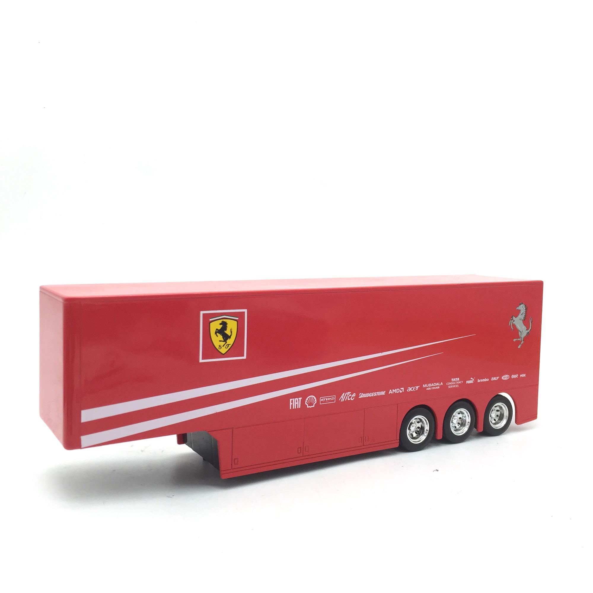 无后门1:43法拉利F1车队拖挂 改装配件 汽车模型配件 长28cm