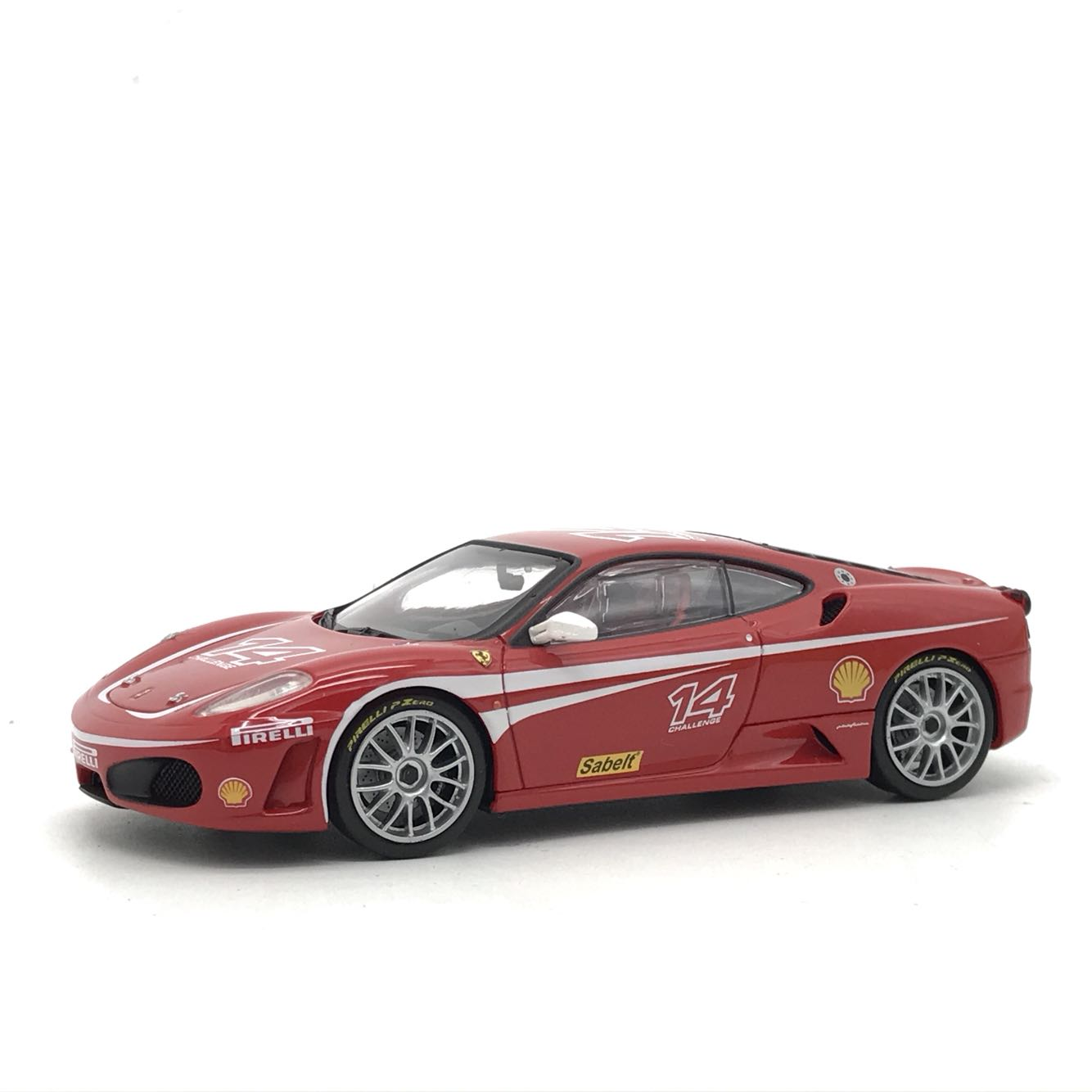 精品级!1:43 F430冠军版 汽车模型 长10cm(底盘是合金的)