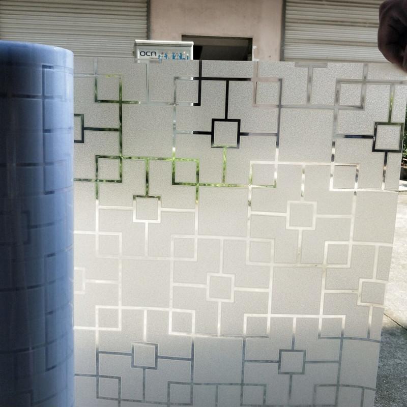 半透明磚紋廚房窗戶玻璃貼膜格子拉門客廳馬賽克靜電無膠窗花貼紙