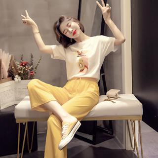 运动套装女夏季2021新款潮流时尚洋气显瘦韩版短袖夏天休闲两件套