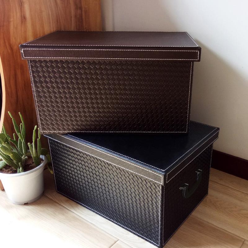 皮革衣柜顶箱子衣帽间整理收纳盒限8000张券