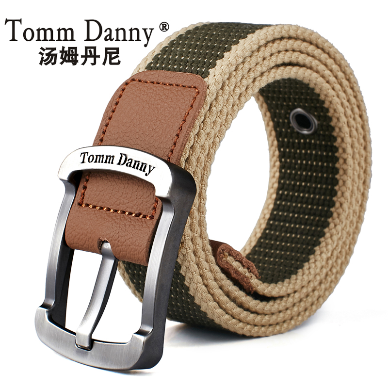 Canvas belt mens and womens belt leisure belt Korean student pin buckle youth military training belt outdoor