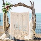 抖音同款 热销新款纯手工编织帘子波西米亚挂毯 婚庆民宿墙饰装饰
