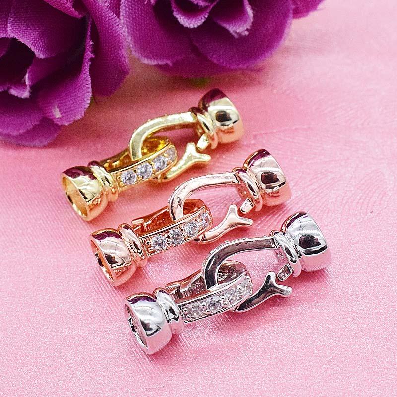 S925纯银珍珠项链扣手链扣 DIY饰品配件 项链维修龙虾扣 纯银扣