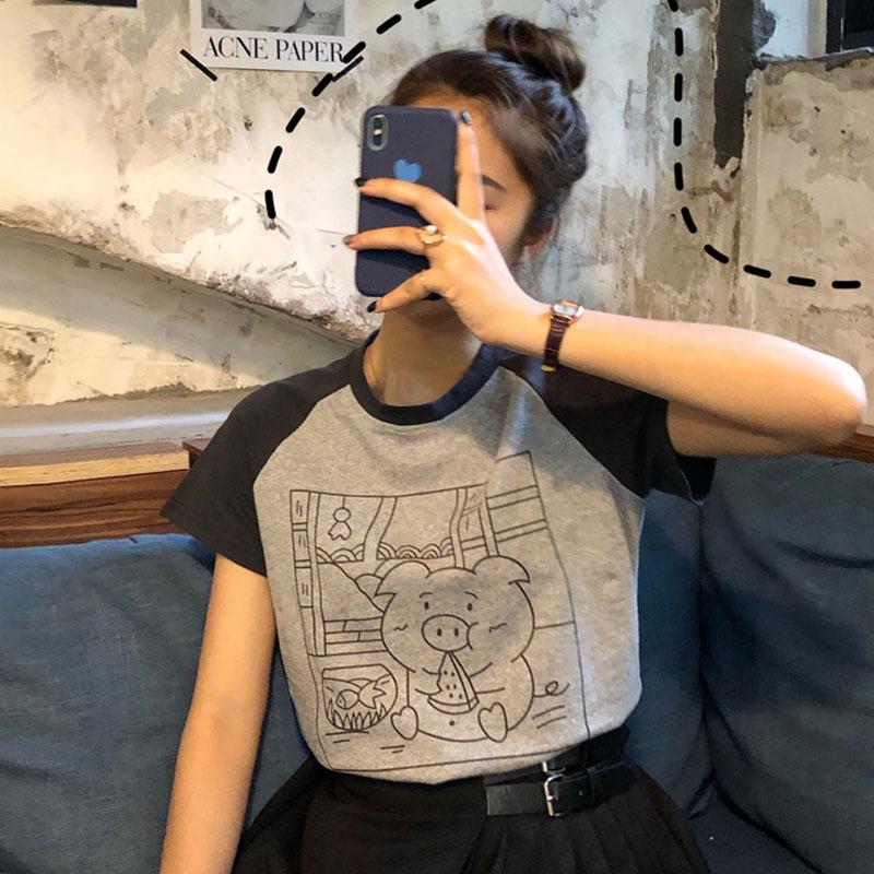 (用5.02元券)短袖2019夏季新款ins超火cec t恤