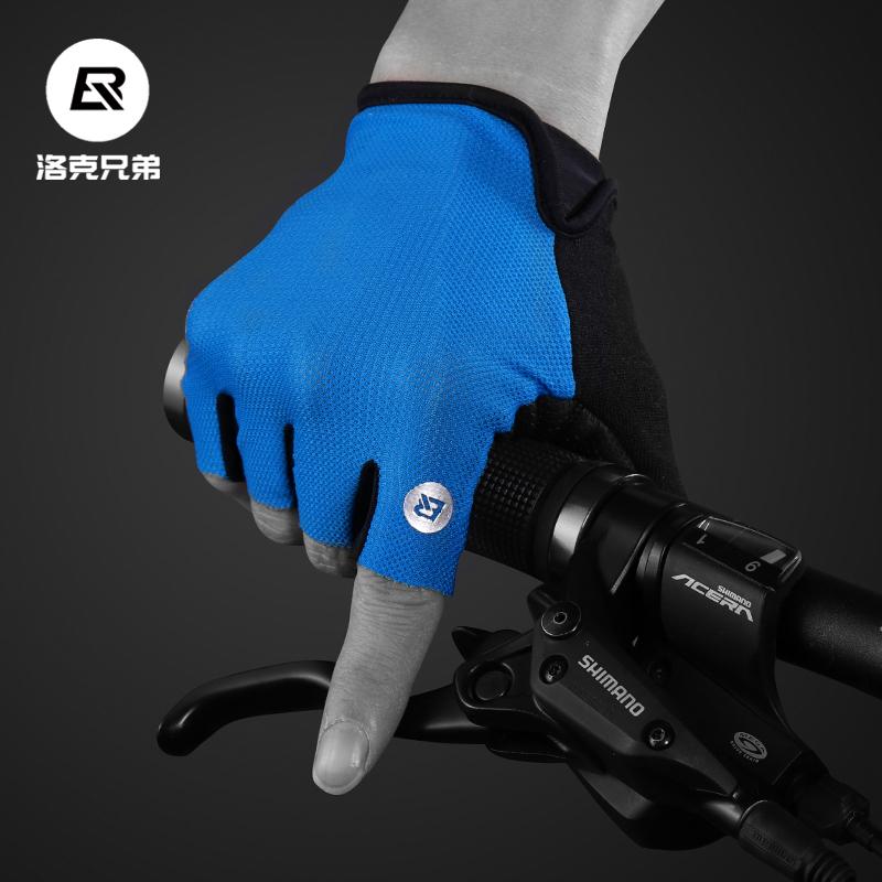 Локк братья верховая езда перчатки перчатки без пальцев мужской и женщины скольжение воздухопроницаемый горный велосипед верховая езда оборудование велосипед перчатки