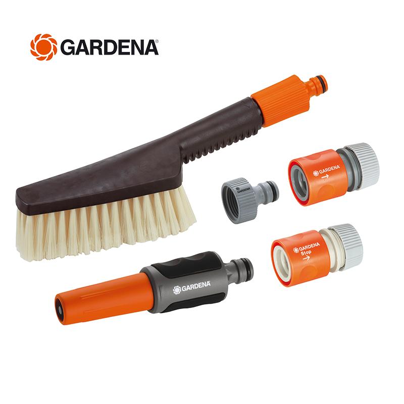 Импорт из германии GARDENA хорошо звон взять домой чистый мойка мех через воду мыть щетка + набор водяных пистолетов