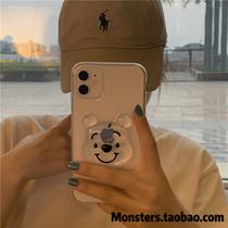 立体透明小熊维尼适用11ProMax手机壳iPhone8/7Plus苹果12/Xs软XR