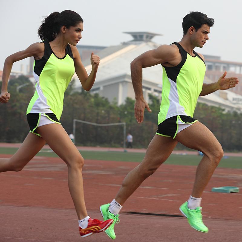 夏季田径服套装 男女马拉松跑步速干背心短跑体考比赛运动训练服