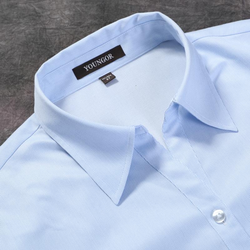 雅戈尔女士商务正装修身通勤夏衬衫