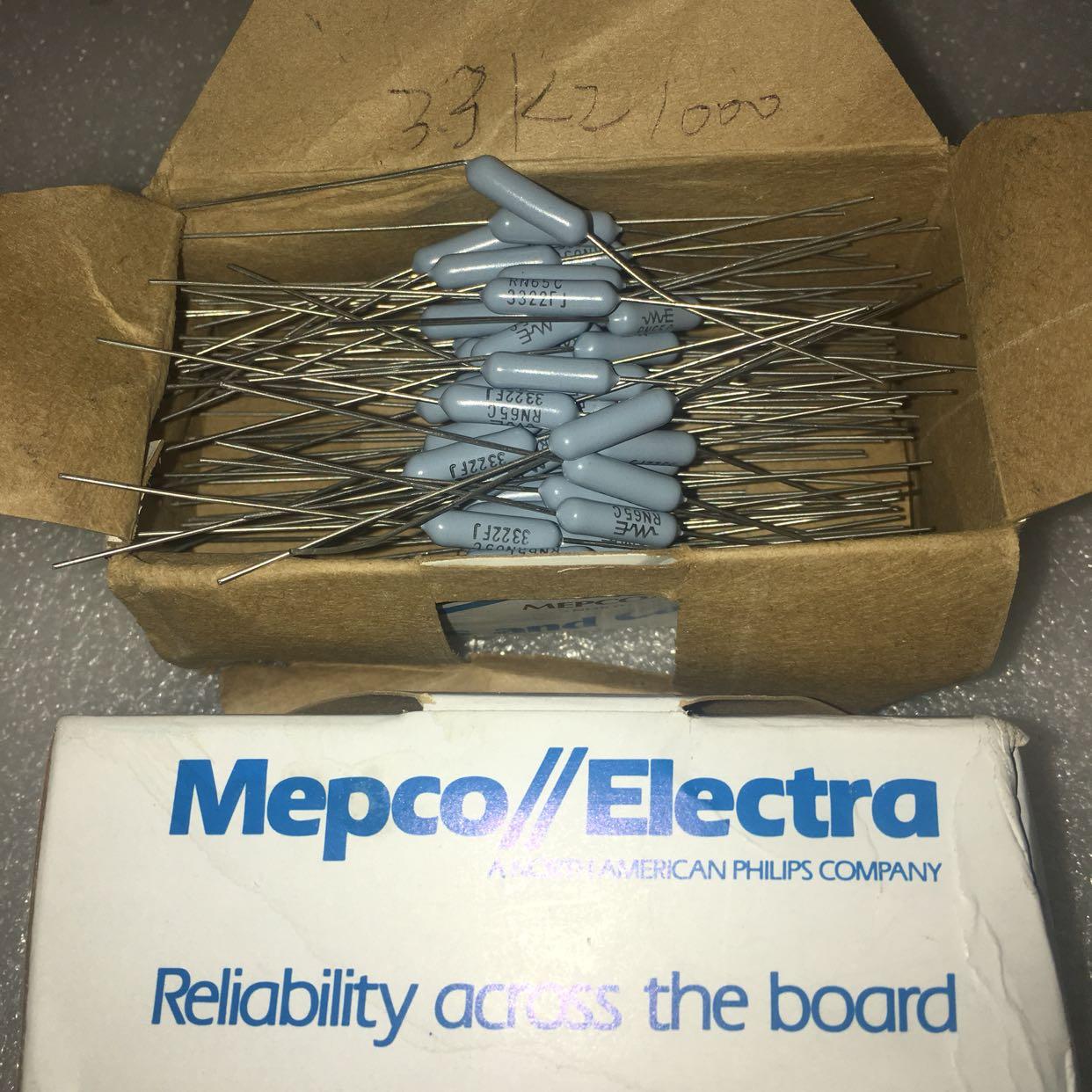 Сша MEPCO 2W 33.2K 1% поколение 33K RN65 медь ступня металл мембрана лихорадка сопротивление 5*15MM