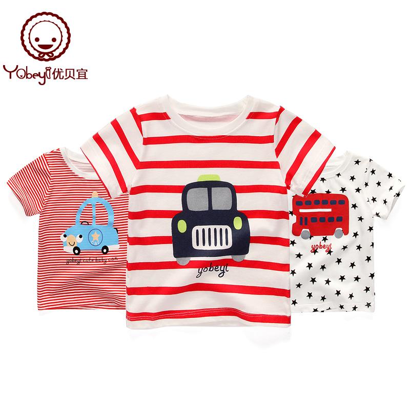 优贝宜 儿童t恤短袖夏季婴儿衣服宝宝夏装童装上衣男女童洋气体恤