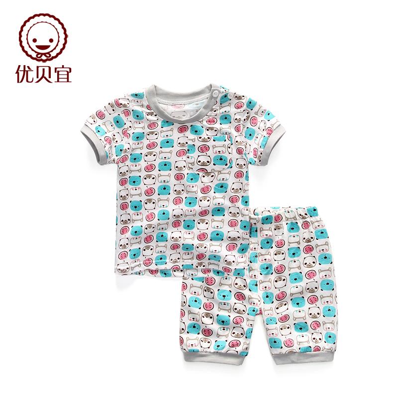 優貝宜寶寶純棉兒童短袖褲