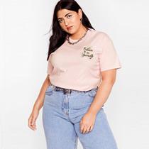 200斤特大码女装胖MM外贸欧美订单印花宽松显瘦短袖T恤上衣薄夏