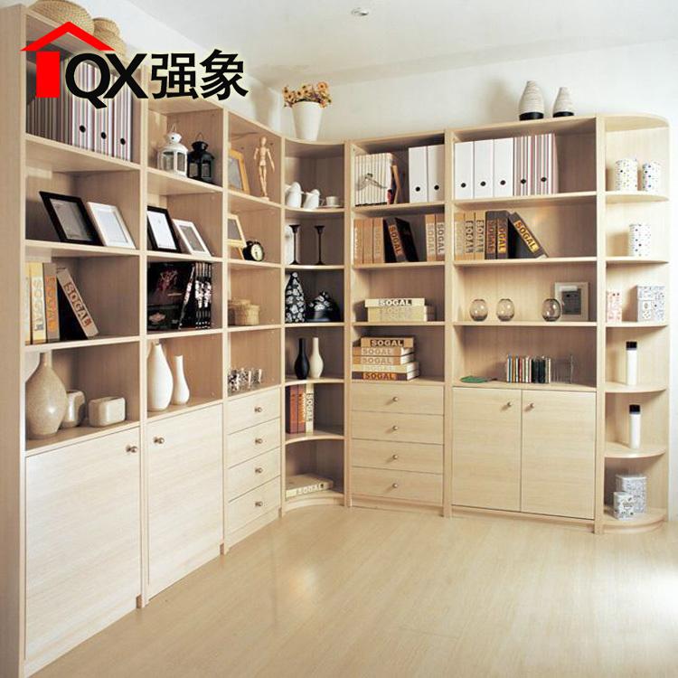 强象书柜书架自由组合简约现代简易书橱转角书柜子定制F-004