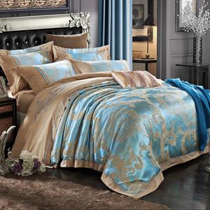 高档欧式家居贡缎提花床上用品四件套 刺绣婚庆床品套件家纺4件套