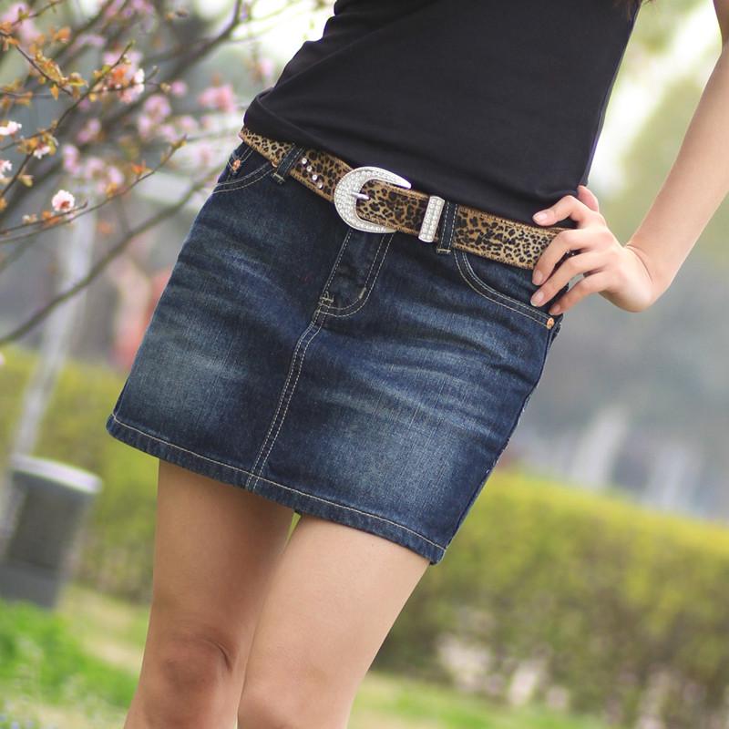 2020 Korean cowboy short skirt womens summer hips are thin and versatile commuter cowboy skirt one step
