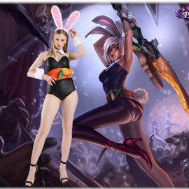 LOL英雄联盟放逐之刃锐雯兔女郎皮肤Cosplay万圣节游戏动漫展服装图片
