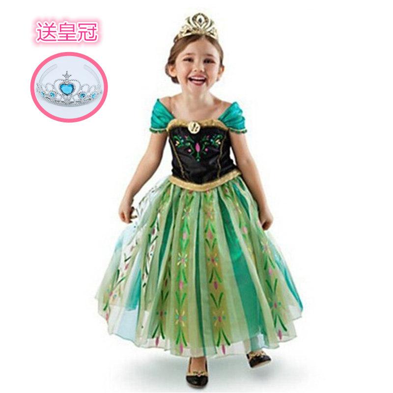 万圣节六一节儿童安娜演出服装奇缘cos爱莎冰雪公主裙化妆舞会服
