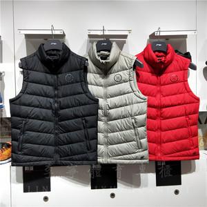 李宁羽绒马甲男2018秋冬韦德系列保暖外套休闲鹅绒运动服AMRN033