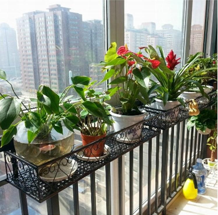 铁工艺家居阳台绿植挂式花架子创意室外悬挂栏杆护栏种菜设备促销
