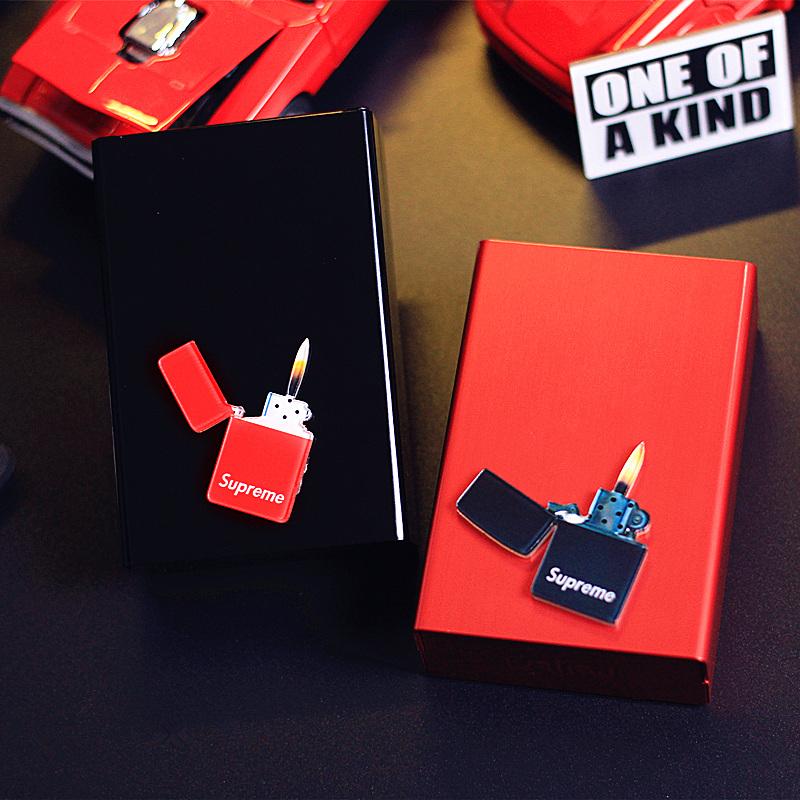 热销10件需要用券潮款20支装超薄金属壳铝合金烟盒