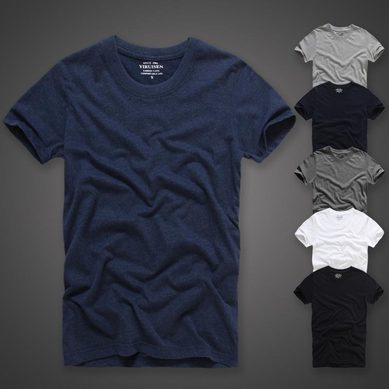 贝克汉姆小贝同款纯色短袖t恤男夏季圆领打底衫纯棉潮男士t恤修身