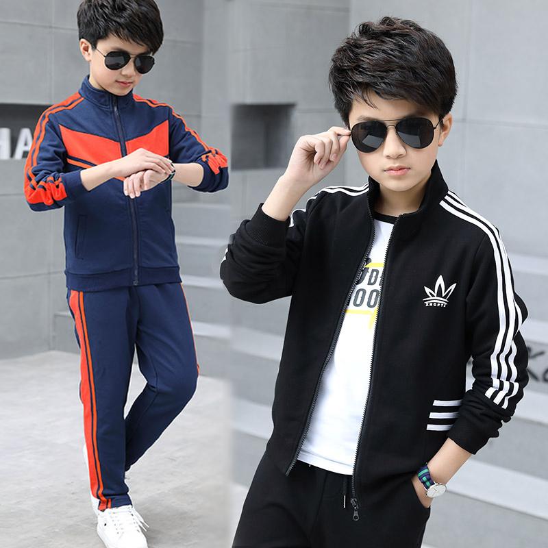 童装男童套装春秋款儿童休闲运动服(非品牌)