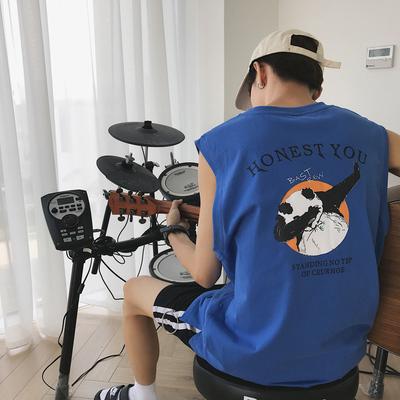 Y229*2019夏装新款韩国INS潮流嘻哈熊猫无袖背心 特P25 控39