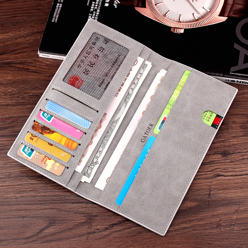 Wallet mens thin thin long 2019 new trend fashion personality student soft leather clip Korean version Retro