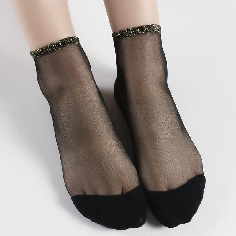 限时抢购6双装透明玻璃隐形水晶袜夏季丝袜