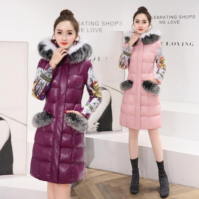 2017冬季新BLSNY16109-1配仿毛领口袋毛韩版时尚PU皮棉衣