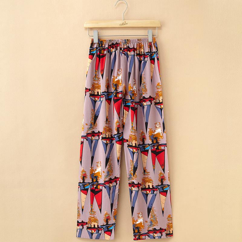 睡衣女春夏季中老年女装妈妈睡裤女纯棉绵绸薄款可外穿大码休闲裤