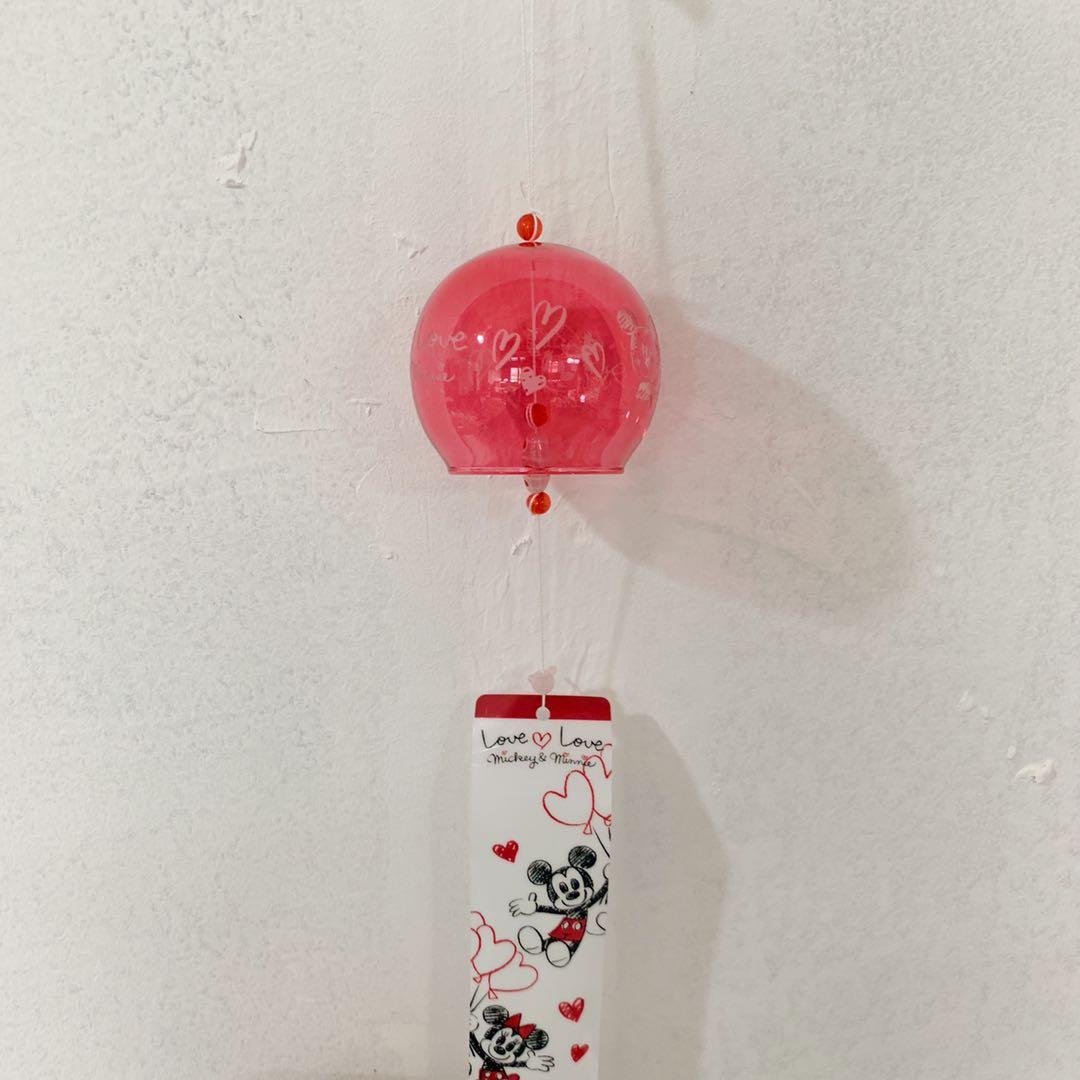 现货包邮 正版DISNEY日本限定玻璃风铃 房间玄关挂饰 生日礼物