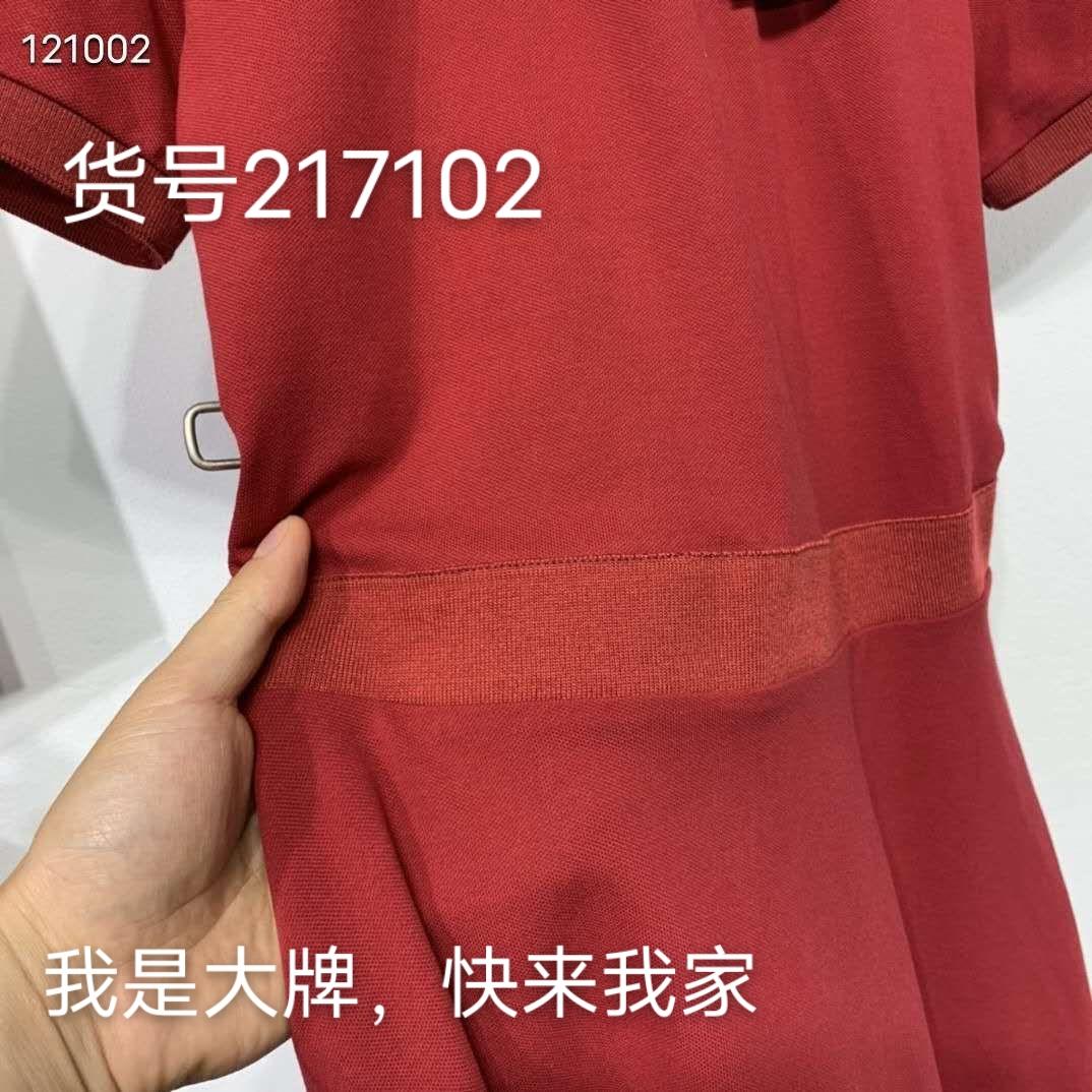 中腰针织连衣裙