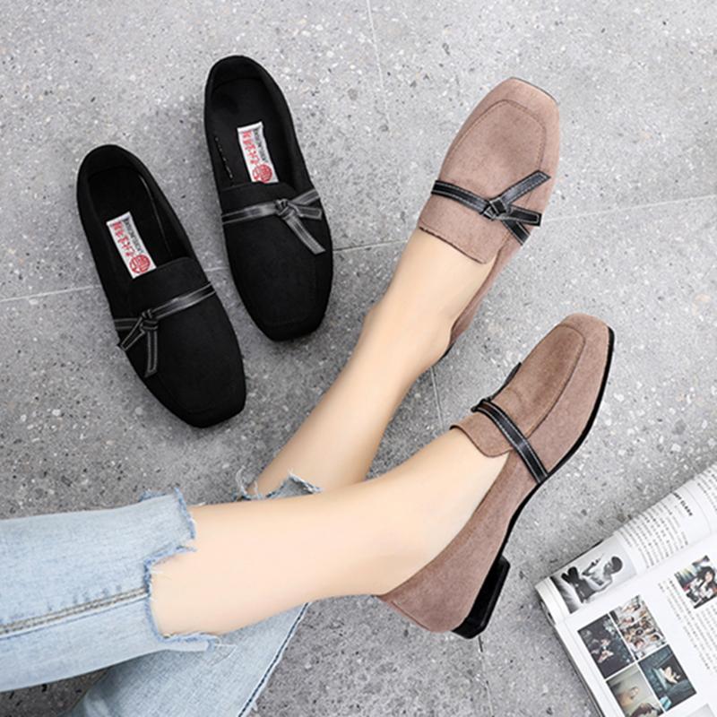 老北京布鞋女鞋夏季单鞋潮鞋2019新款软底黑上班时尚一脚蹬豆豆鞋
