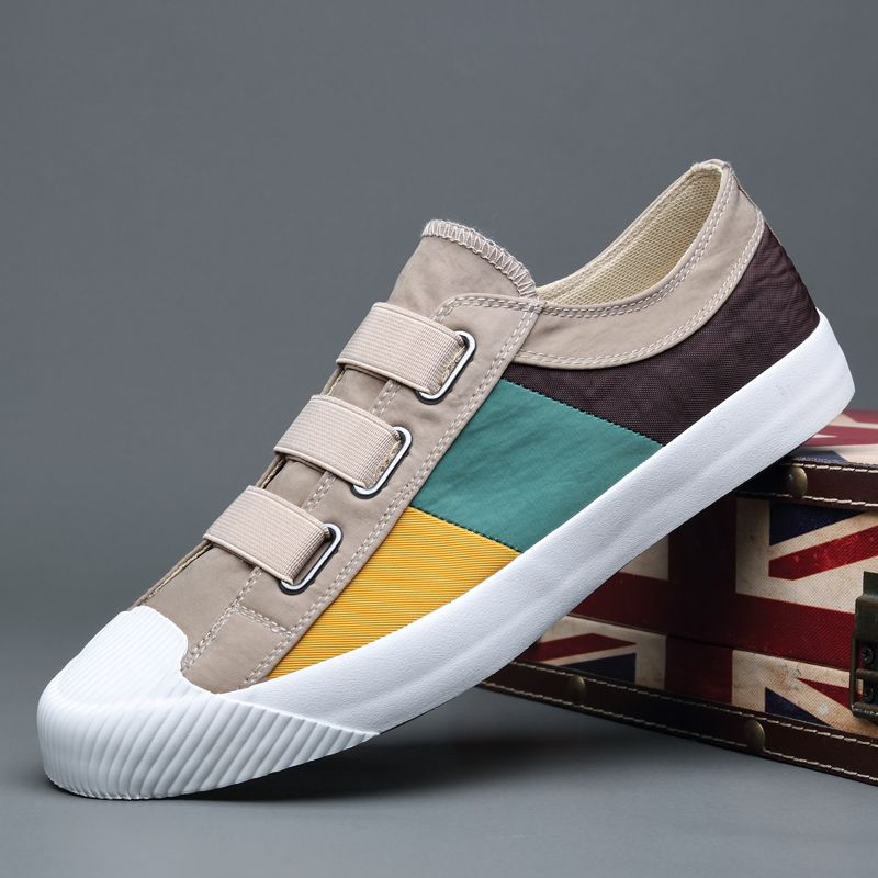Spring and autumn 2020 new mens canvas shoes mens shoes casual shoes mens Korean cloth shoes fashion shoes
