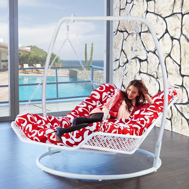 Кресло-качалка шезлонг двойной гамак корзина кресло-качалка компилировать плетеный стул на открытом воздухе качели вешать стул балкон для взрослых виноградная лоза вешать синий