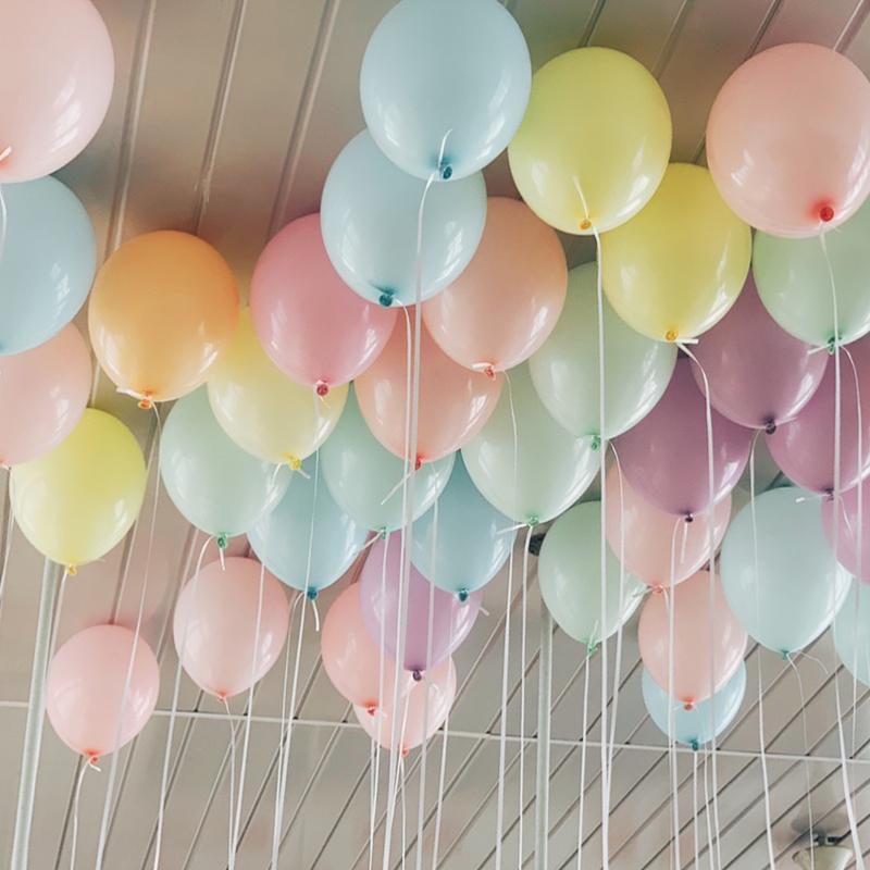 马卡龙批发100个装求婚房布置气球10-19新券