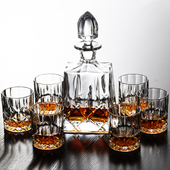 Czech Crystalized Glass Decanter Sets