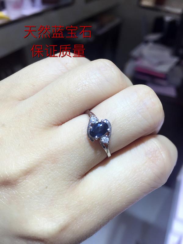 Безумие большие рекламные заработать репутация специальное предложение 925 серебра природный сапфир кольцо женщина просто мода